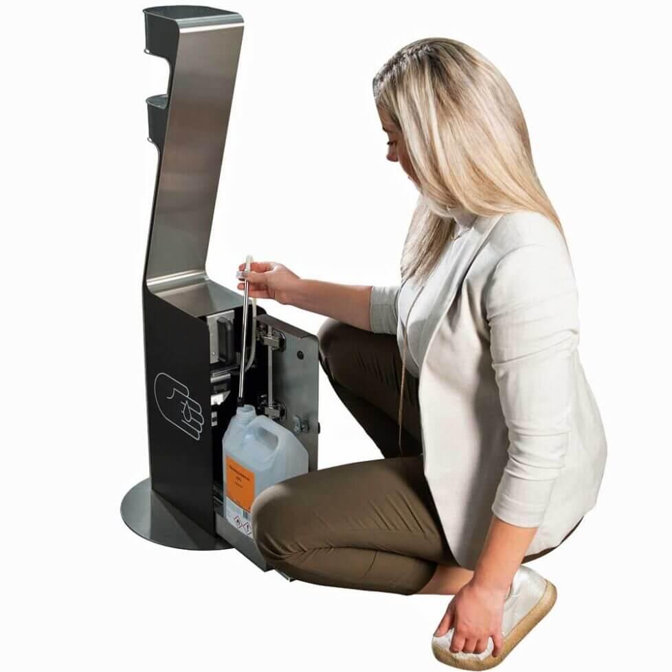 Zenzation rengøringsvenlig stander til håndsprit